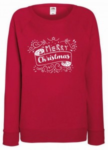 bluza - MERRY CHRISTMAS sielskie