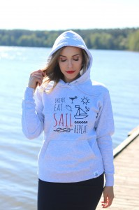 drink, eat, sail, repeat - bluza